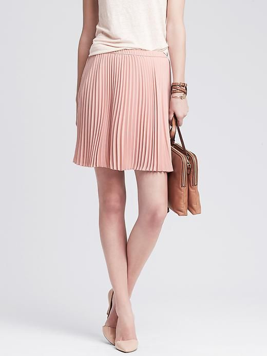 Pleated Skirt, Pink | Banana Republic | Size M