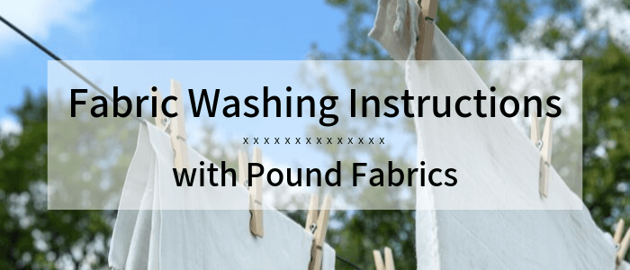 Washing Instructions for Different Types of Fabric
