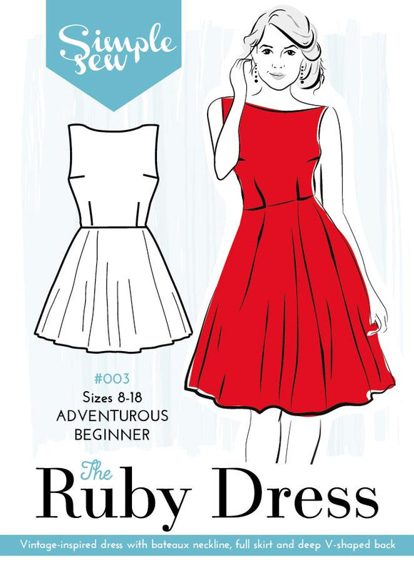 Simple Sew - The Ruby Dress - Adventurous Beginner - Pound Fabrics