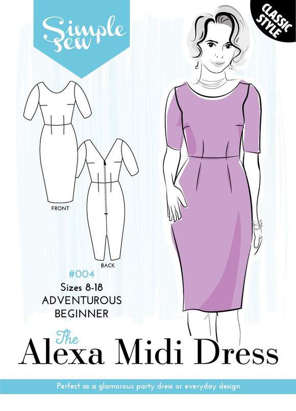 Simple Sew - The Alexa Midi Dress - Adventurous Beginners - Pound Fabrics