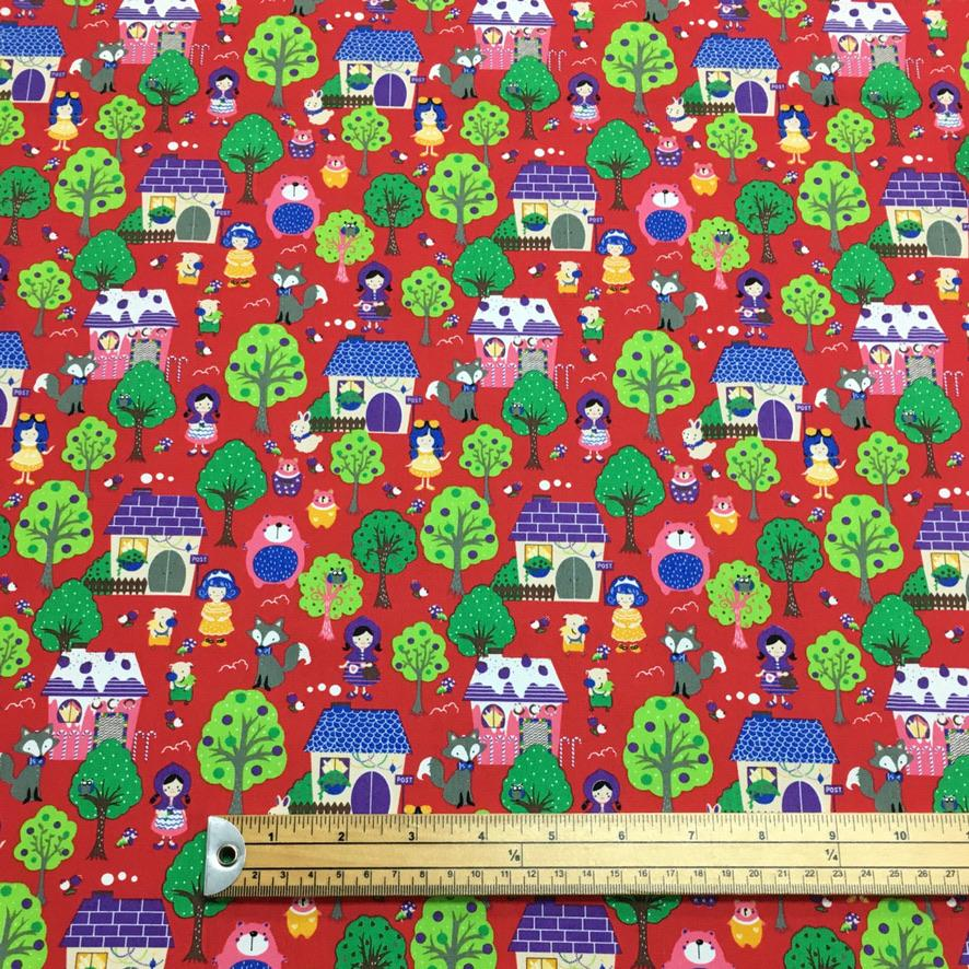 Anita and Clare's Garden Cotton Poplin Fabric