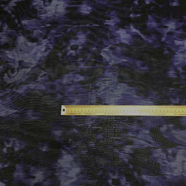 Purple Cloud Effect Chiffon Fabric - 3 metres