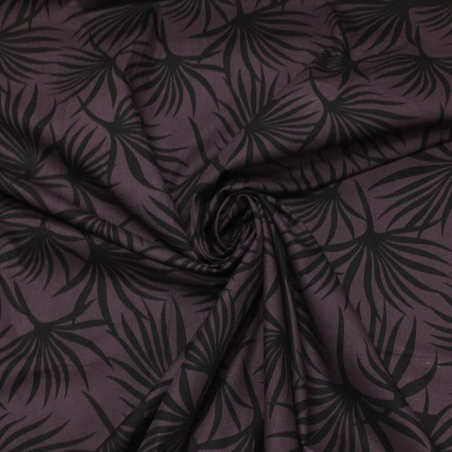 Leaf Print Cotton Poplin Fabric