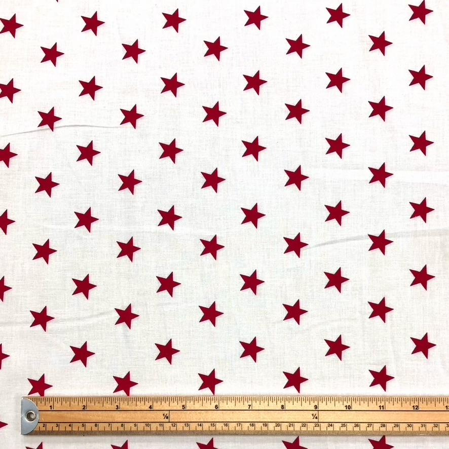 Red Star Cotton Fabric