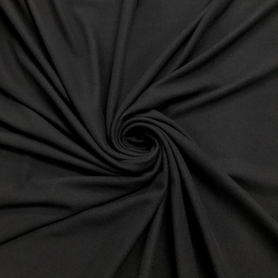 Black Micro Fleece Fabric