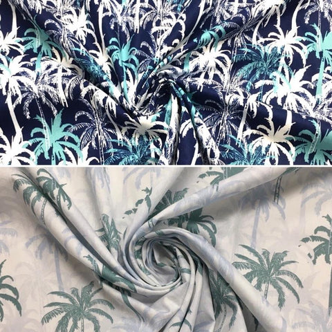 Palm Trees Cotton Poplin Fabric