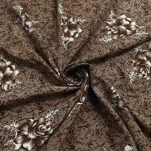 Single Flower Polyester Fabric - 3 metres