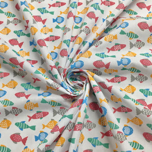 Fish Polycotton Fabric