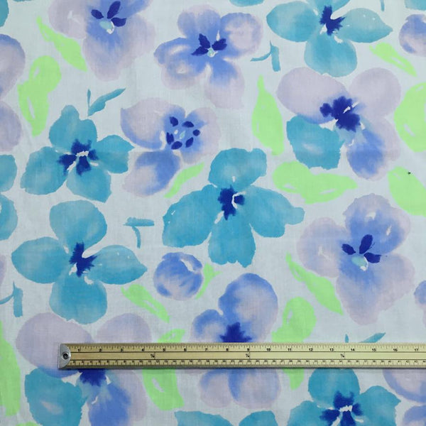Abstract Flower Splodges Polycotton Fabric