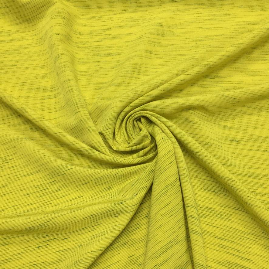 Lime Scattered Lines Polyester Fabric