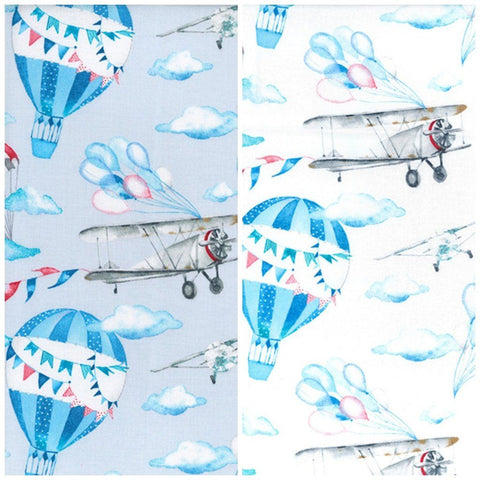 Hot Air Balloons Cotton Fabric - John Louden
