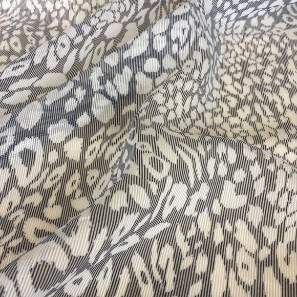 Sheer Leopard Stripe Chiffon Fabric - Pound Fabrics