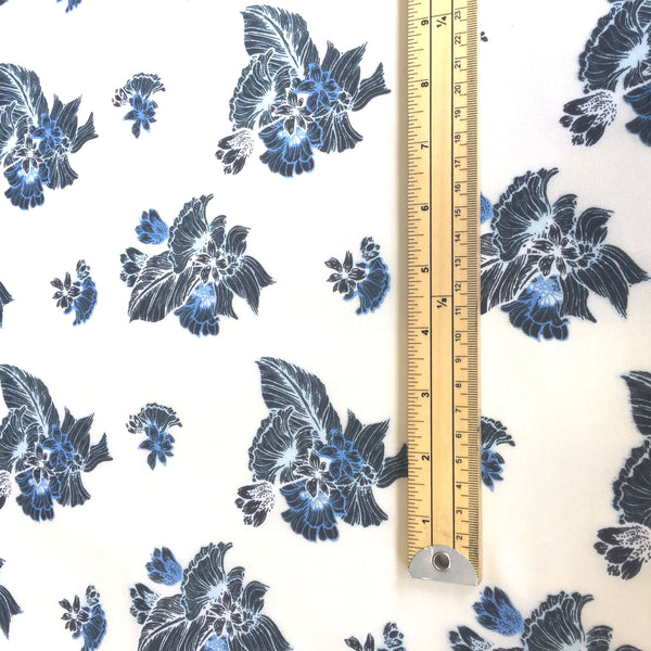 Brushed Hawaiian Print Floral Chiffon Fabric - Pound Fabrics