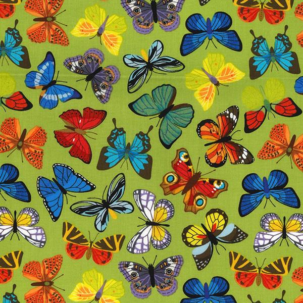 Colourful Butterflies Cotton Fabric - John Louden