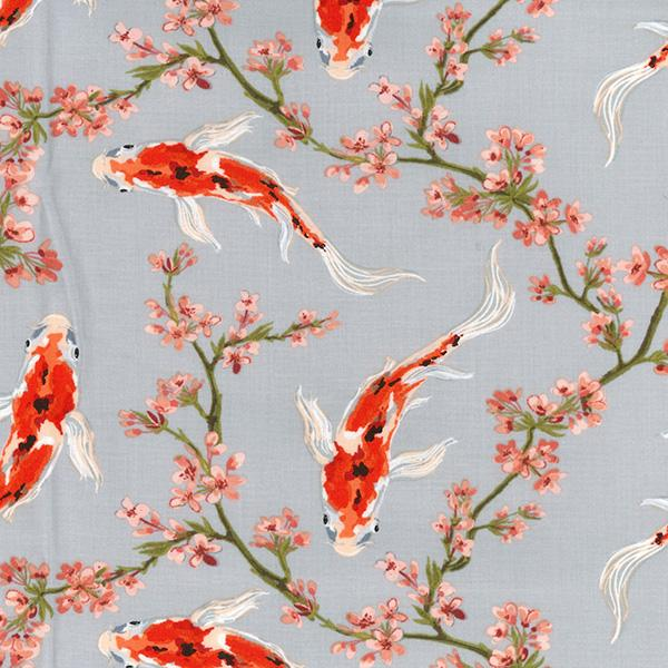 Koi Fish Cotton Fabric - John Louden