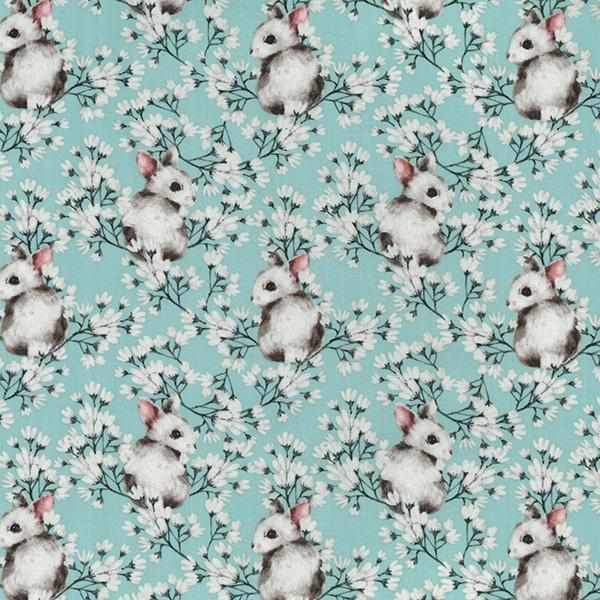 Field Mouse Cotton Fabric - John Louden