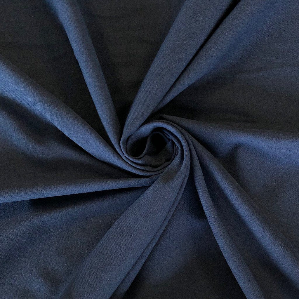 "Navy Polycotton Fabric 46"" Wide"