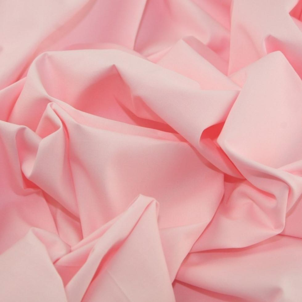 Plain Rose & Hubble Cotton Poplin Fabric