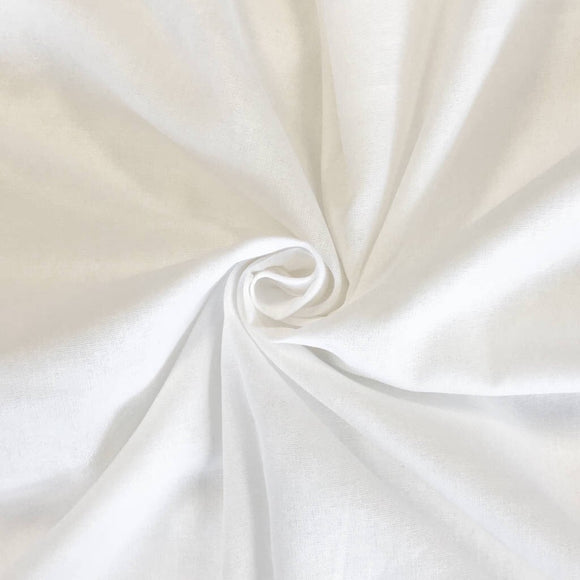 White Muslin Fabric - 50m Roll