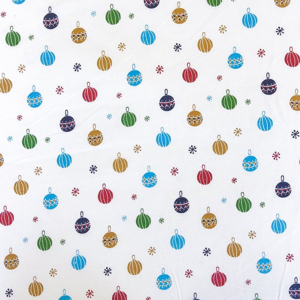 Christmas Baubles Cotton Fabric
