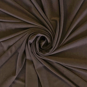Brown Elastane Fabric