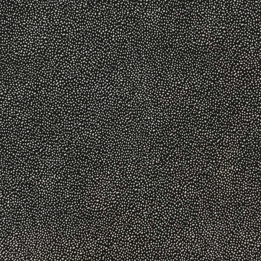 Black/White Dots Polyester Fabric
