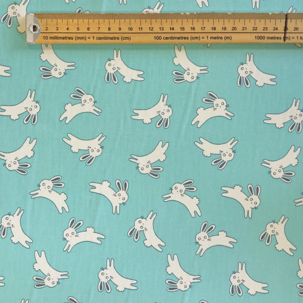 Bunnies Cotton Poplin Fabric