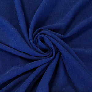Blue Lurex Scuba Fabric - Pound Fabrics