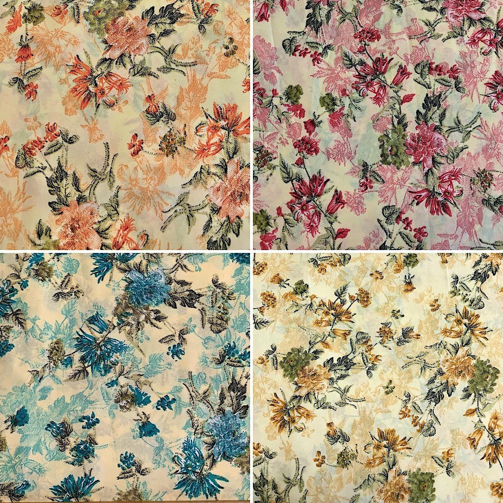 Lily Wildflower Polyester Fabric - 3 metres for £2