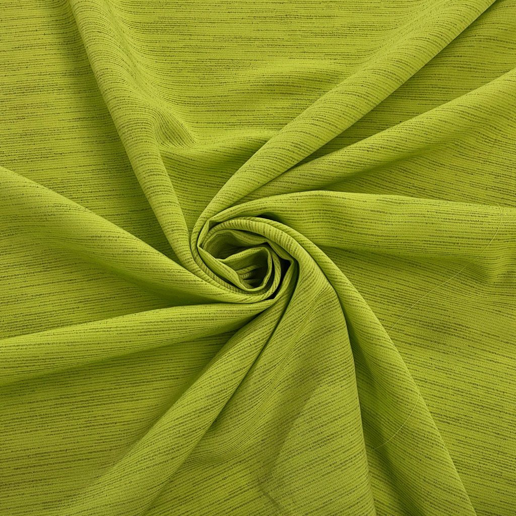 Green Scattered Lines Polyester Fabric