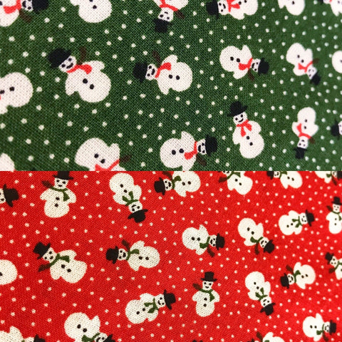 Mini Snowmen Cotton Fabric