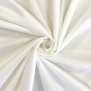 Ivory Fire Retardant Satin Fabric