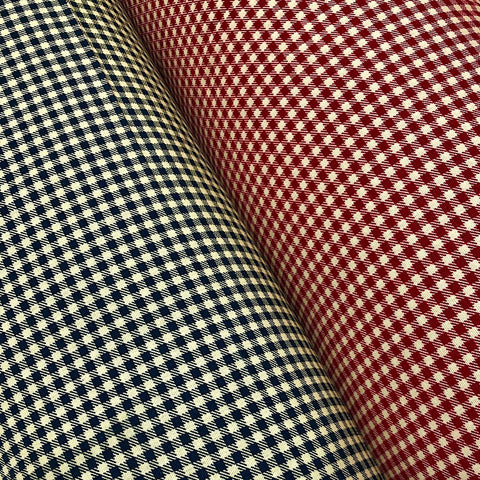 Checkered 100% Cotton Canvas Fabric