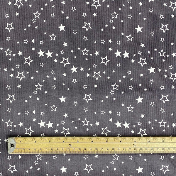 Large Stars Needlecord Fabric