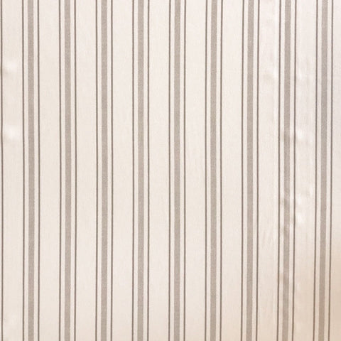 Cream and Grey Stripe Polyester Fabric