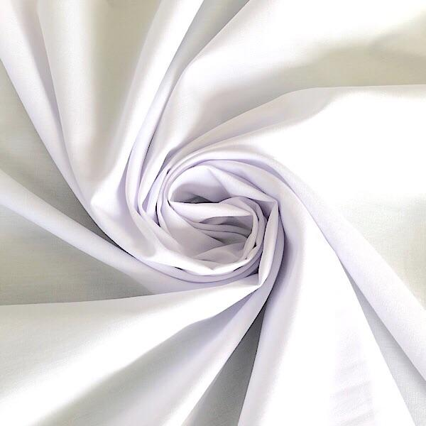 Premium White Polycotton Fabric - 50m Roll - Pound Fabrics