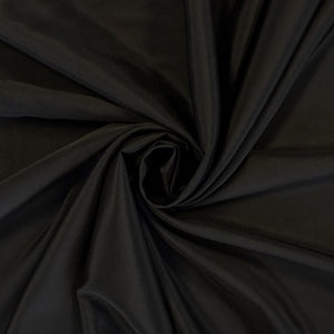 Black Crepe de Chine Polyester Fabric - Pound Fabrics