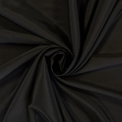 Black Crepe de Chine Polyester Fabric