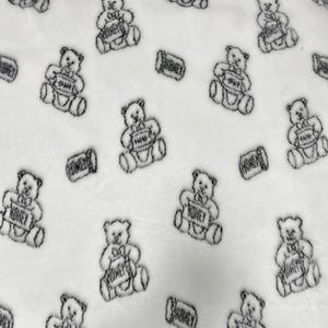 Ivory Teddy Bear Faux Fur Fabric