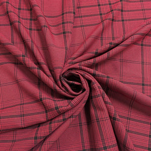 Deep Pink Check Fabric