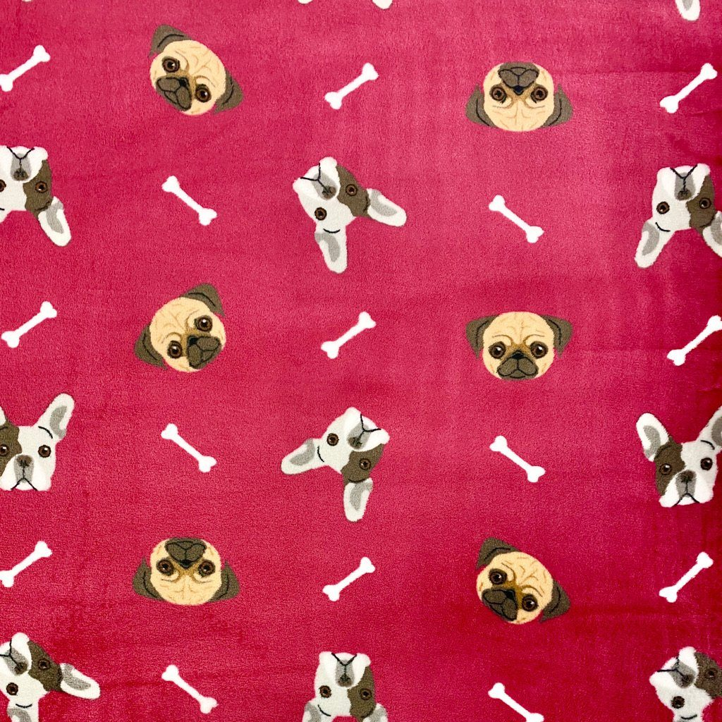 Dogs Cuddle Fleece Fabric