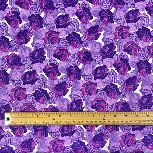 All Over Roses Cotton Poplin Fabric