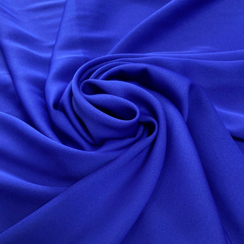 Royal Blue Moss Crepe Polyester Fabric