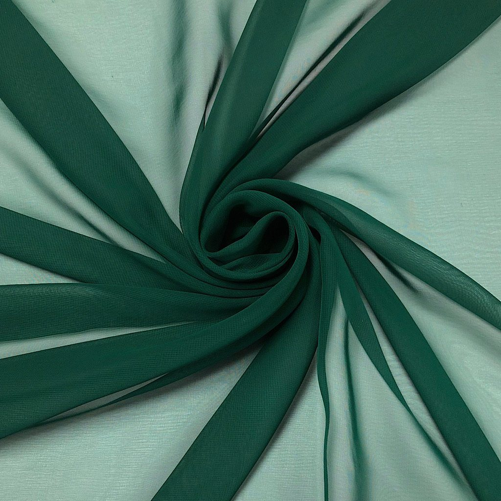 Dark Green Chiffon Fabric