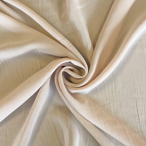 Latte Crinkle Polyester Fabric