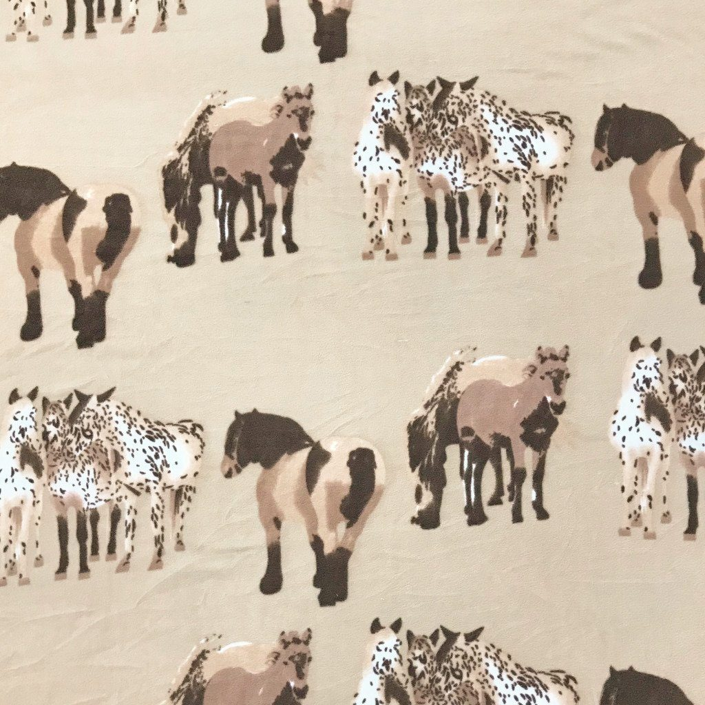 Horses and Ponies Polar Fleece Fabric