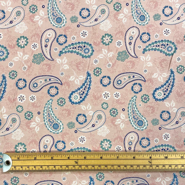 Spring Paisley Cotton Jersey Fabric