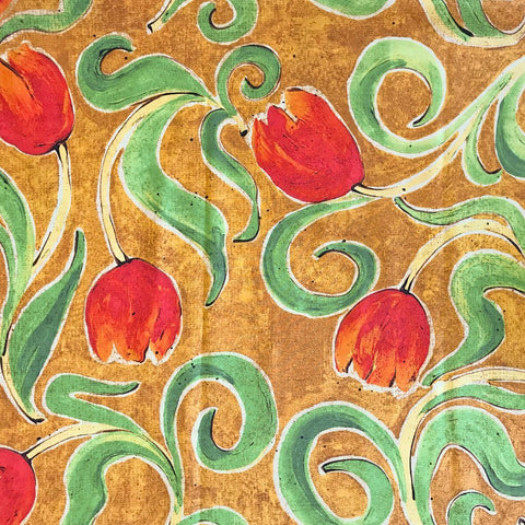 Large Tulip Swirls Cotton Fabric