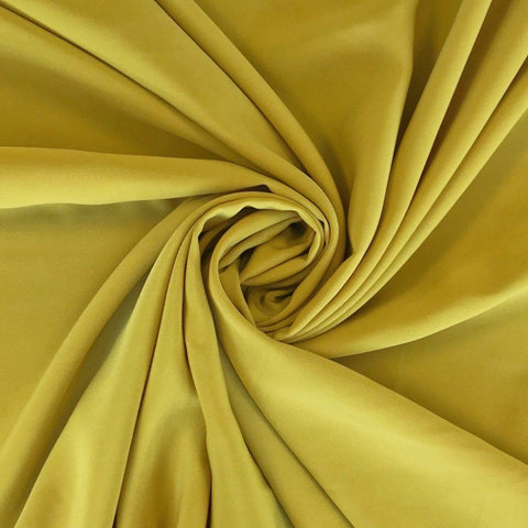 Soft Mustard Polyester Fabric