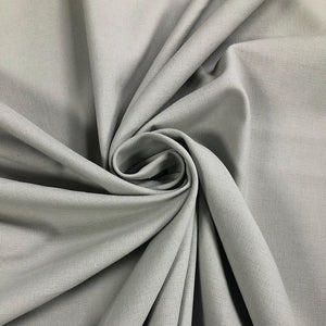 Grey Cotton Linen Fabric
